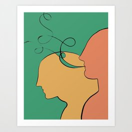 They: The Story  // Part of the He, She illustrations series Art Print