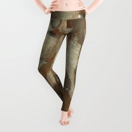 Native American Dreamcatcher Spirituality Still Life Impressionist Painting in Gray and Tan Leggings