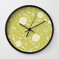 Sunny floral pattern Wall Clock