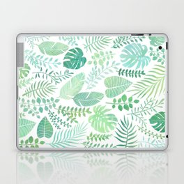 Green tropical leaves pattern Laptop & iPad Skin