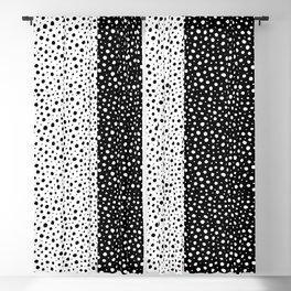 Black and white Polka Dots. Pattern design. Minimalism. Blackout Curtain
