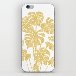 Delicate Monstera Golden #society6 iPhone Skin
