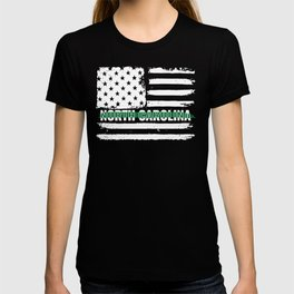 North Carolina Customs and Border Control Agents Gift for US Customs and Border Control Agents Thin T-shirt