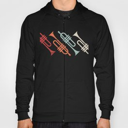 Vintage Marching Band Trumpets Hoody