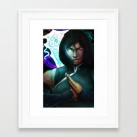 the legend of korra Framed Art Prints featuring Korra by Nicole M Ales