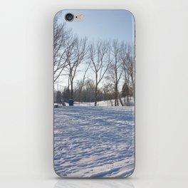 Snowy field iPhone Skin