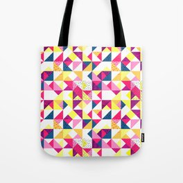 Bright Geometric Revive Funky Tote Bag