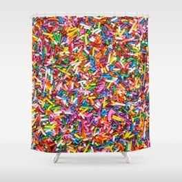 Rainbow Sprinkles Sweet Candy Colorful Shower Curtain