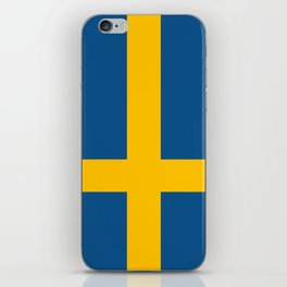 flag of sweden iPhone Skin