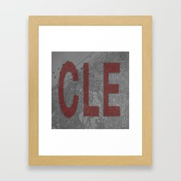 HOME IS CLE Framed Art Print