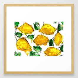Not far from the lemon tree Framed Art Print
