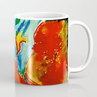 gemini Mugs featuring Gemini by SteeleCat