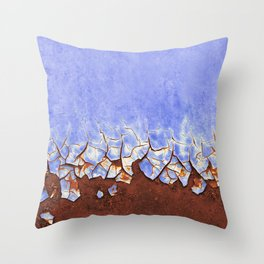 Rust and Blue Throw Pillow