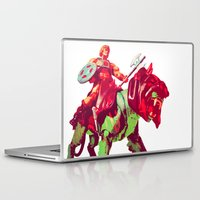 he man Laptop & iPad Skins featuring he-man by BzPortraits