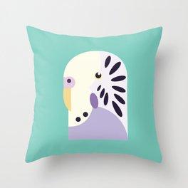 Budgerigar 3 Throw Pillow