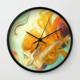 Coral's New Friend Wall Clock