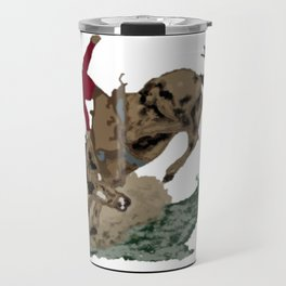 Retro Bronc and Cowboy Travel Mug