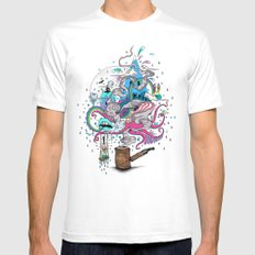 Pipe Dreams MEDIUM Mens Fitted Tee White