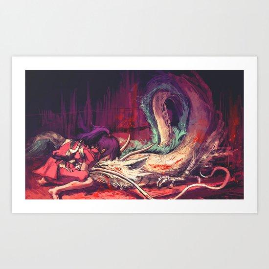 Bleed Art Print