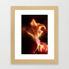 Dancing Flame Framed Art Print
