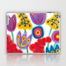 raw flower garden with tulips Laptop & iPad Skin