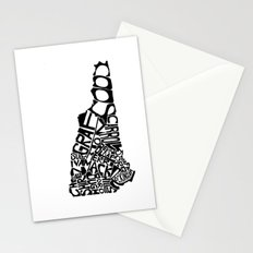 Typographic New Hampshire Stationery Cards