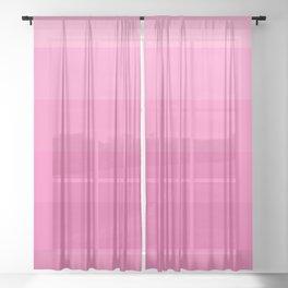 Pink Ombré 1 Sheer Curtain
