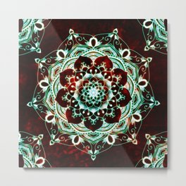 Glowing Soul Mandala Metal Print