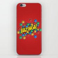 bazinga iPhone & iPod Skins featuring Bazinga! by Skeleton Jack
