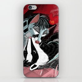 Strange Love: Genette & Badger iPhone Skin