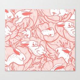 Where the bunnies sleep (rose) Canvas Print