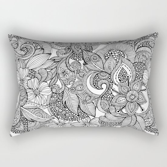 Flowers and doodles Rectangular Pillow