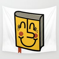 book Wall Tapestries featuring Book by Landon Sheely