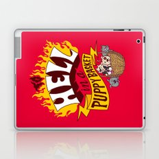 To Hell in a Puppy Basket Laptop & iPad Skin