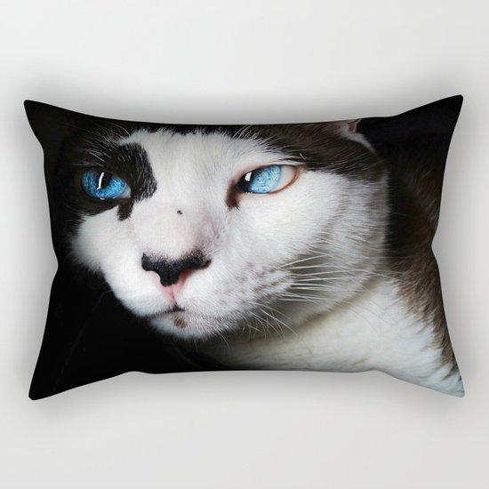 Cat siamese blue eyes Rectangular Pillow