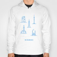 cities Hoodies featuring Cities Worldwide by Sergii Rodionov