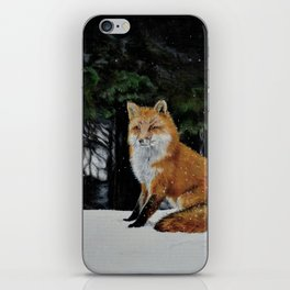 Red Fox of Algonquin by Teresa Thompson iPhone Skin