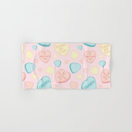 Introvert Conversation Hearts Hand & Bath Towel