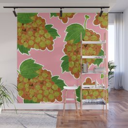 Muscat Grapes Print Wall Mural