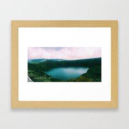 The Lake of the Living Spirals Framed Art Print