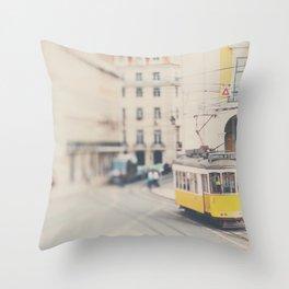 city trams ...  Throw Pillow