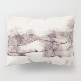 Lying on the bed. Nude studio Pillow Sham