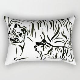 Tiger Family Rectangular Pillow