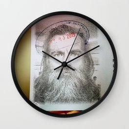 Self-Portrait, Admitted, Crucified at Customs. July 20, 2015 Wall Clock