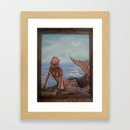 Lovely African Mermaid Framed Art Print