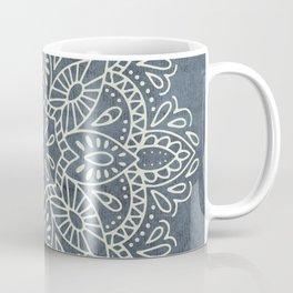 Mandala Vintage Ivory Blue Coffee Mug