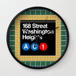 subway washington heights sign Wall Clock