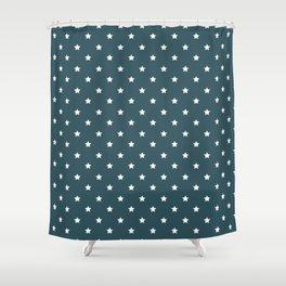 Pattern Formes Etoiles Vert d'eau Shower Curtain