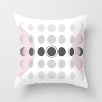 moon phase Throw Pillows featuring Moon Phase by Emily Morris