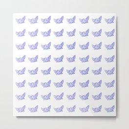 mitzi takes it easy, blue pattern Metal Print
